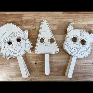 12 Wooden DIY Painting Mask